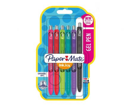 Paper Mate Inkjoy Gel Pack Of 6 Student Fun Colours